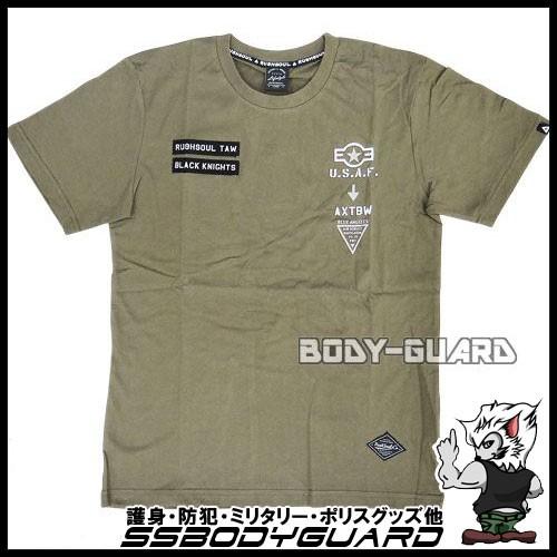 半袖Tシャツ RUSHSOUL カーキ XL