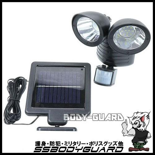 ソーラー発電式 LEDセンサーライト 2灯 150ル...