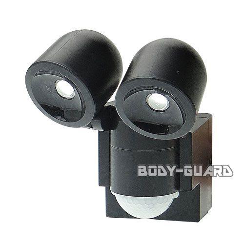 防雨 LEDセンサーライト ●2灯 乾電池式 ESL-...