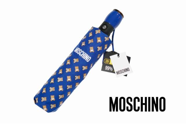 MOSCHINO モスキーノ 折畳み傘 ブルー クマ柄
