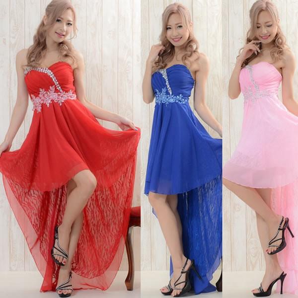 6a41dfe0b3597 激安 セール キャバドレス パーティー フリーサイズ フラワー刺繍ビジュー装飾シフォン&レーステール