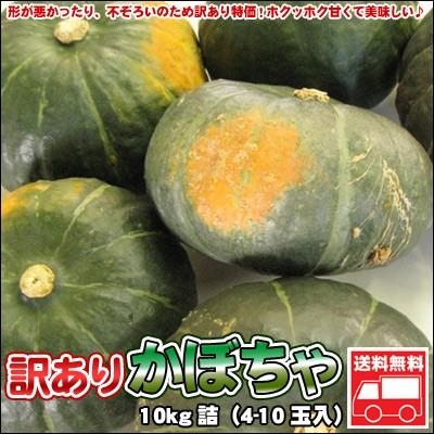 かぼちゃ 訳あり 北海道 10kg詰(4-10玉入)「...