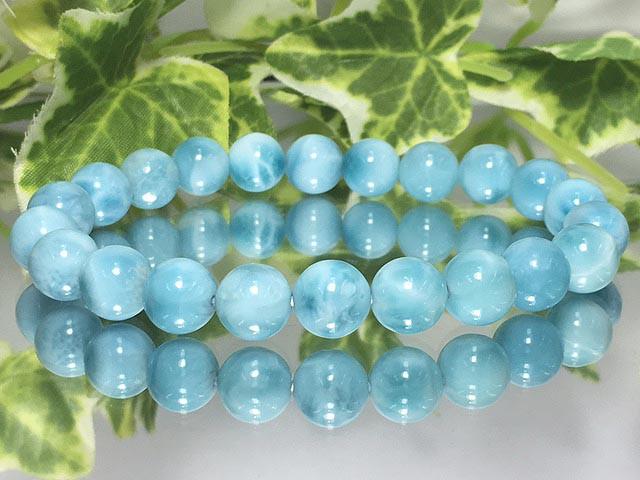 現物商品!美麗天然石☆AAラリマー 8ミリ数珠 ...