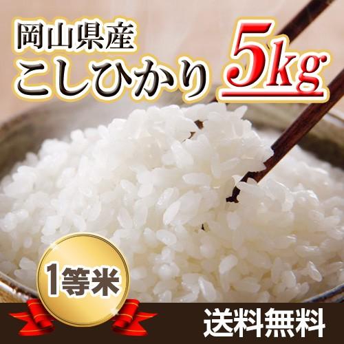 米 お米 29年産岡山県産こしひかり5kg  送料...