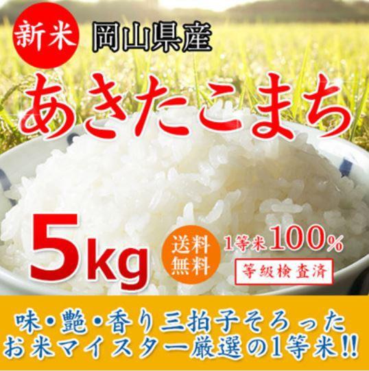 28年産 岡山県産あきたこまち5kg【お試し価格/10k...
