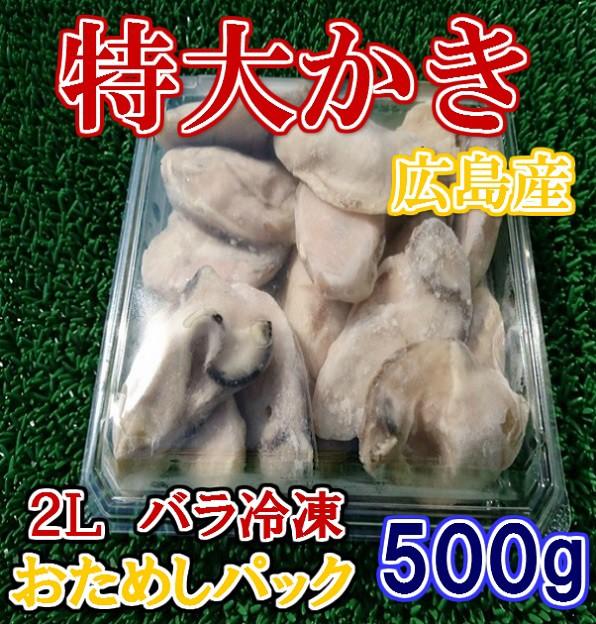 小パック広島県産の鮮度抜群冷凍かき500g2