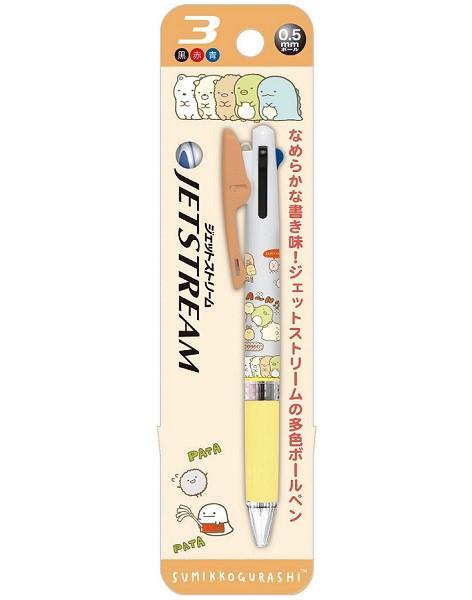 すみっコぐらし 3色ボールペン ジェットストリー...