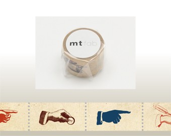 mt fab 穴空きテープ・hands MTDP1P04/1巻/25mm...