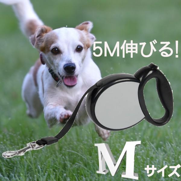 【メール便送料無料】シンプル伸縮リード/5M グレ...