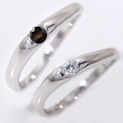 プラチナ ダイヤモンド ブラックダイヤ 結婚指輪 ...