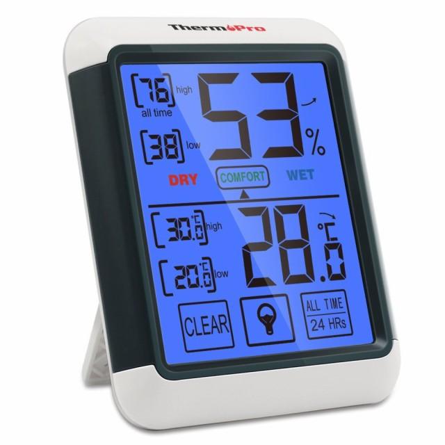 ★ プルーのライトが美しい デジタル湿度計 温度...