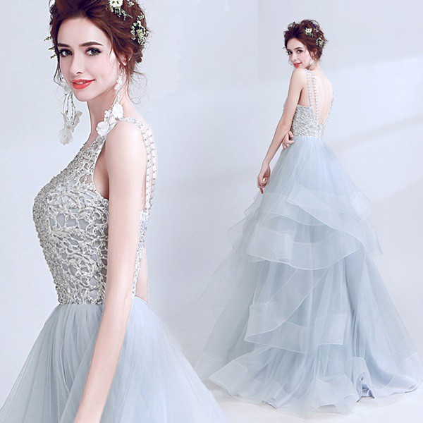 7d8dd3e932b3c ウェディングドレス ロングドレス 二次会 ファスナータイプ レース カラードレス パーティードレス・結婚式・