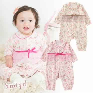 ベビー服 赤ちゃん 服 ベビー カバーオール 女の...
