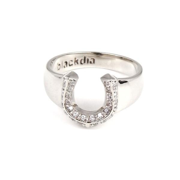 blackdia シルバー ジルコニア 馬蹄 リング 指輪 ...