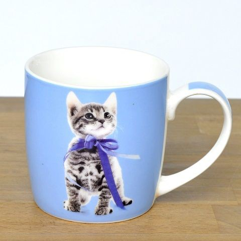 7d020a25f181c ◇ キャットマグ 4種 ネコ雑貨(ブルー猫)アニマルマグ通販 ...