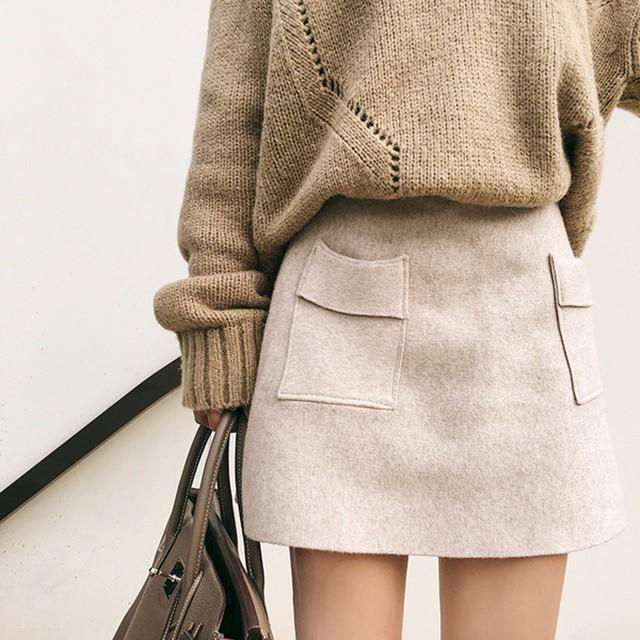 Aライン 秋冬 ミニスカート