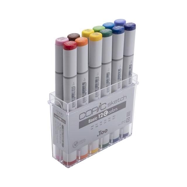 コピックスケッチ ベーシック12色セットC