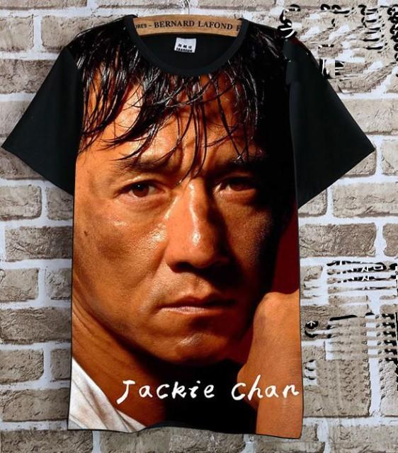 ジャッキー・チェン(成龍) Tシャツ 黒2