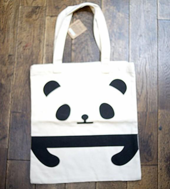 パンダ キャンバス トートバッグ 【PAC004-A】