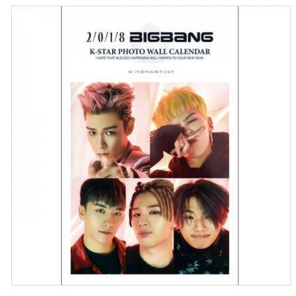 BIGBANG ビッグバン 2018年壁掛けカレンダー