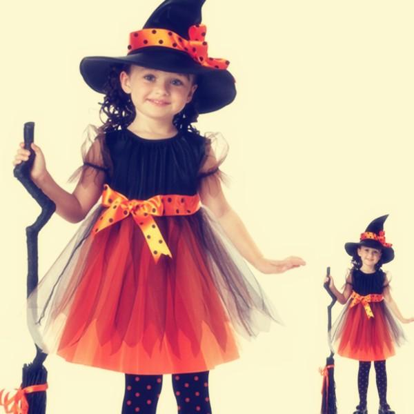 5a830fb58db8f ハロウィン 子供 魔女っ子サンタコスプレ コスチューム 子供用女の子 キッズ子供魔女 舞台