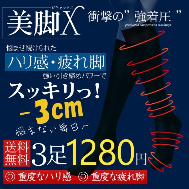 DM便 送料無料 美脚X 3足セット 強圧補正ソ...
