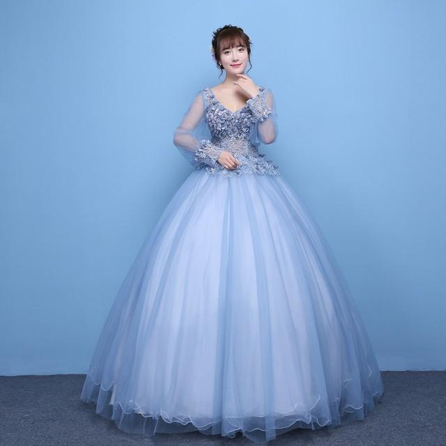 ウェディングドレス 大きいサイズ ロング イブニ...