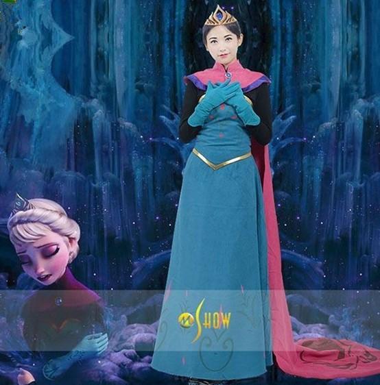 アナと雪の女王 エルサ戴冠式 ドレス コスプレ衣...