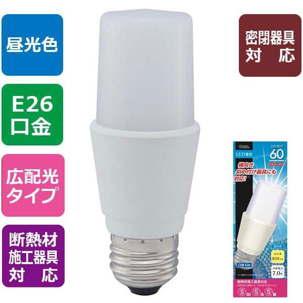LED電球 T形型 60形相当/昼光色/E26 LDT7D-G IS9 ...