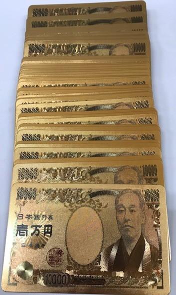 黄金の壱萬円トランプ★表も裏も箱まで・金金金★...