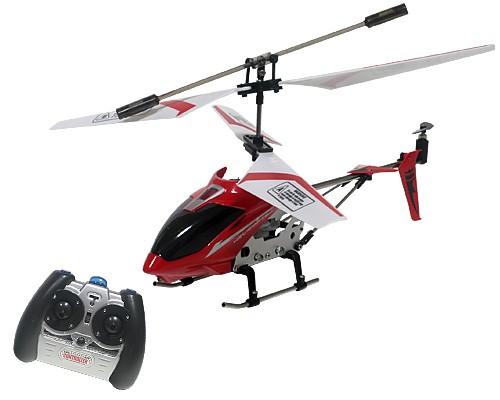 3chメタルヘリコプター 室内用 (赤) ジャイロ機能...
