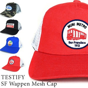 TESTIFY SF Wappen Mesh Cap メッシュ キャップ