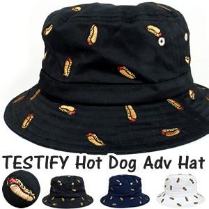 TESTIFY Hot Dog Adv Hat バケットハット ホット...