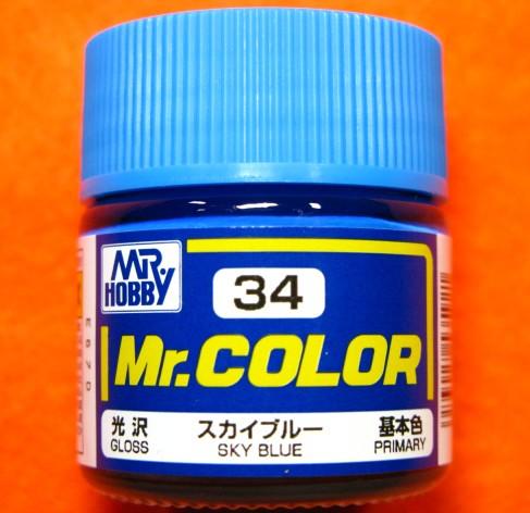 【遠州屋】 Mr.カラー (34) スカイブルー 基本色...