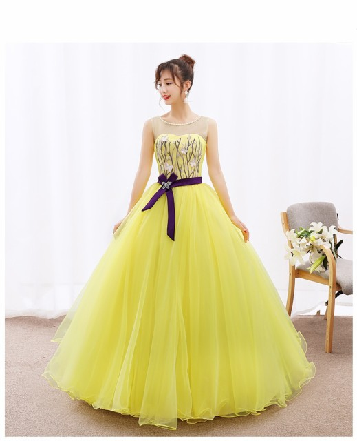 豪華 ロングドレス/ドレス/豪華なウエディングド...