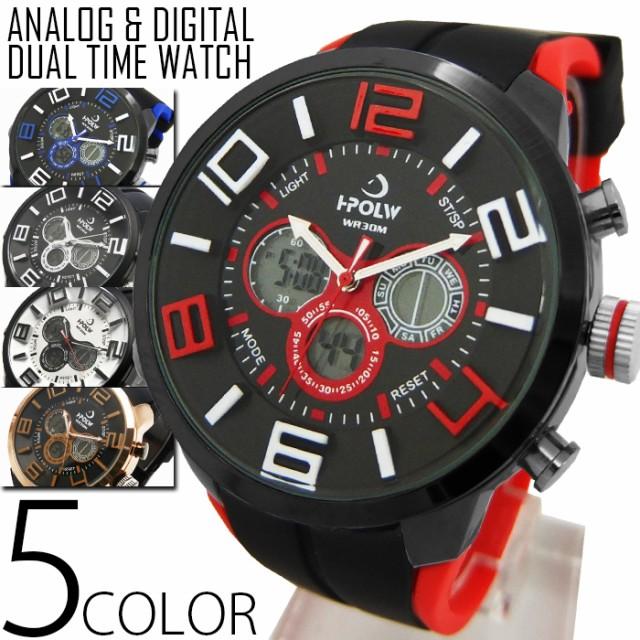 メンズ デュアルタイム 腕時計 FSMB19 クロノグラ...