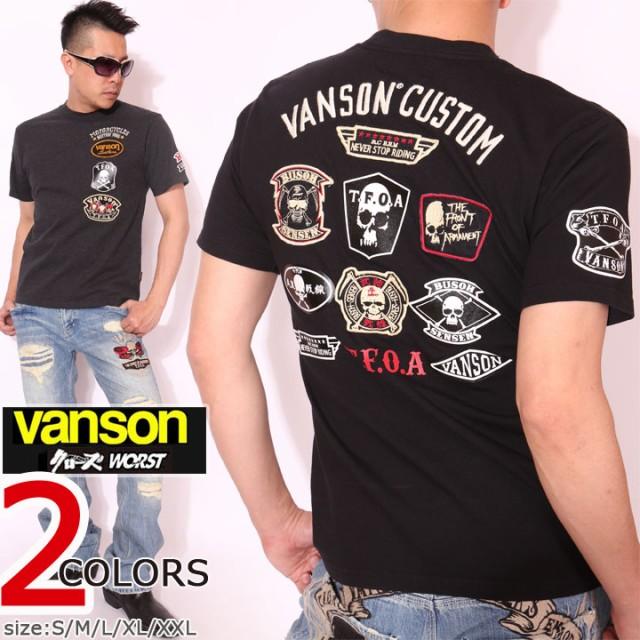 VANSON クローズ WORST T.F.O.A 武装戦線 半袖Tシ...