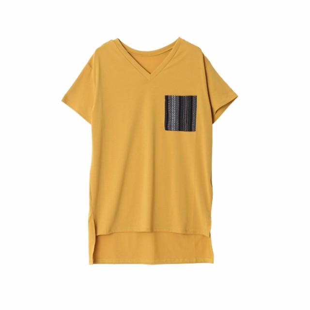 ネイティブポケットヘムラインゆるTシャツ