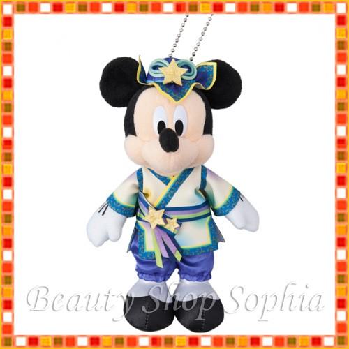 ミッキーマウス ぬいぐるみバッジ ディズニー七夕...