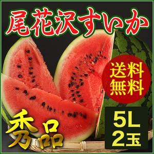 【送料無料】 山形県産 尾花沢 すいか 5Lサイズ (...
