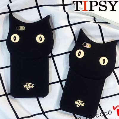 【Tipsy】黒猫スマートフォンケース iphone5/5s i...