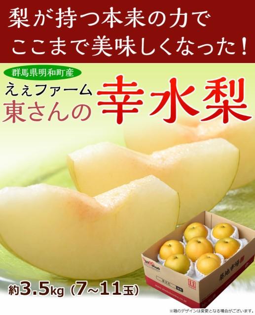 【60箱限定!!】群馬県明和町『えぇファームの幸水...