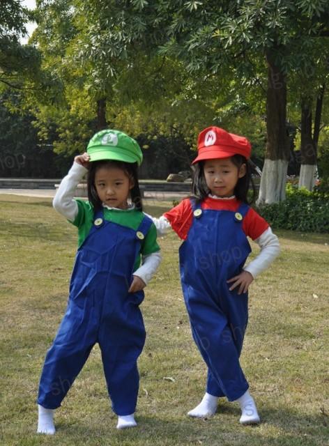 スーパーマリオ ルイージ   キッズ版 コスプレ...