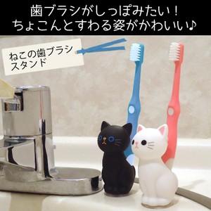 【MEIHO ねこの歯ブラシスタンド】歯ブラシがしっ...