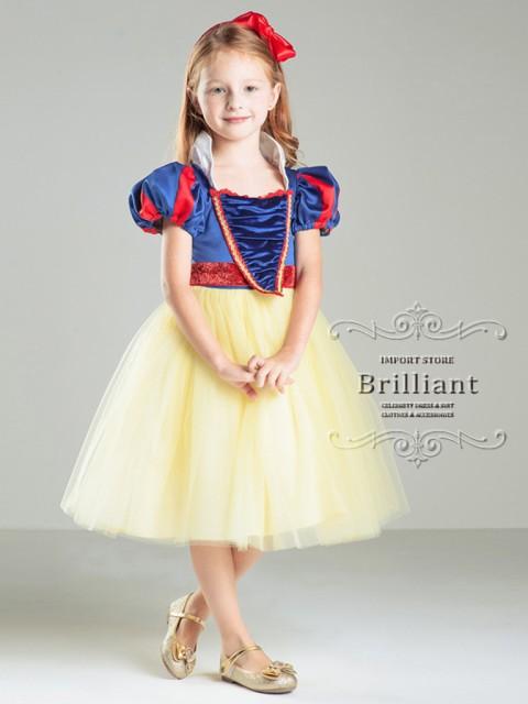 女の子 ドレス 子供ドレス 白雪姫風ドレス 子供服...