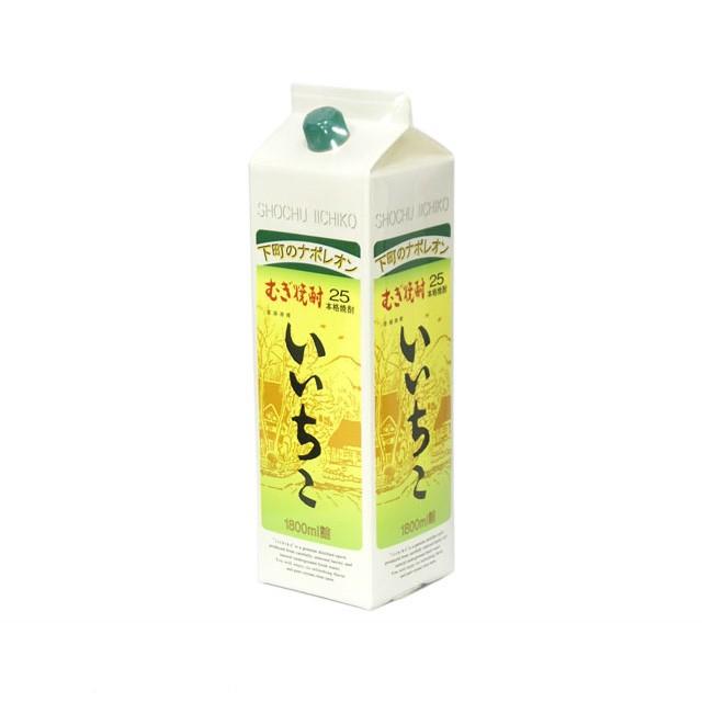 いいちこ 麦焼酎 25度 1800mlパック 1ケース(...
