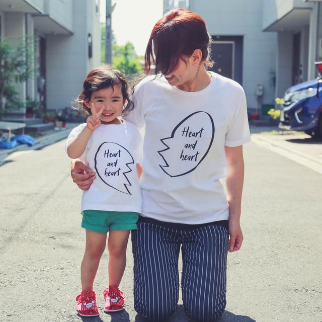 ママとキッズのリンクコーデTシャツ[Heart and he...