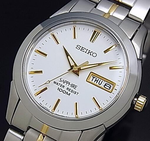 SEIKO【セイコー/クォーツ】 メンズ腕時計 コンビ...