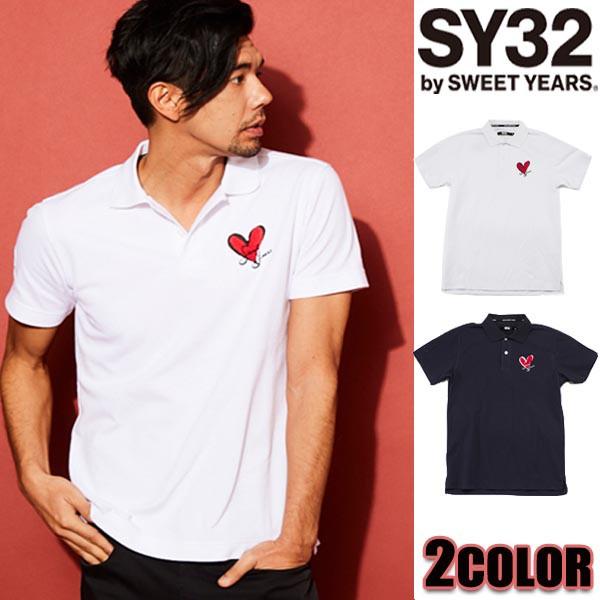 送料無料SY32 by SWEET YEARS ポロシャツ メンズ ...
