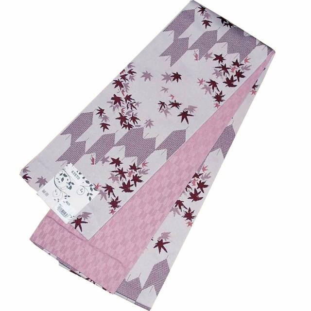 日本製 自宅で洗える半幅帯 小袋帯 リバーシブル ...